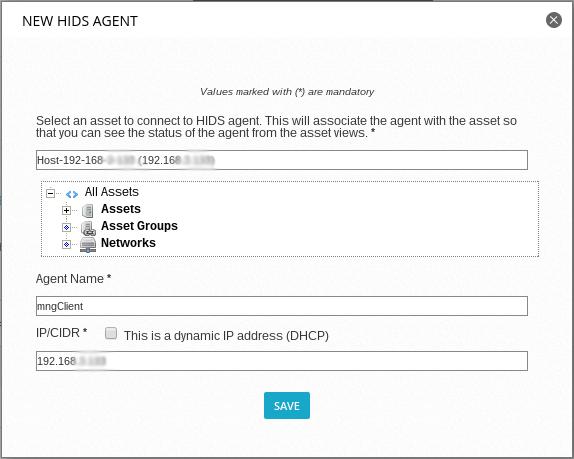 ossim - настройка параметров агента
